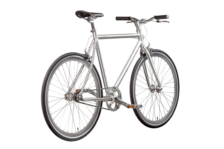 LEKKER Amsterdam Brushed Silver Fixie Style Series Rear Angle view