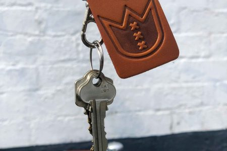 Lekker Leather Key Hanger Honey Brown